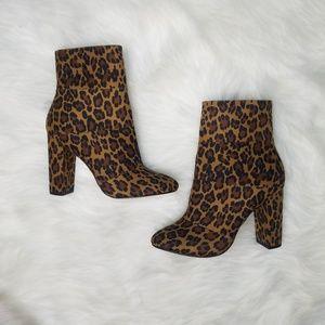 BCBG cheetah booties